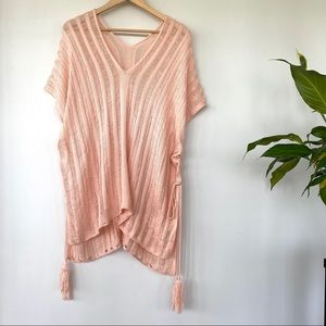 Soft knit bathing suit coverup